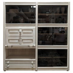 Guillerme & Chambron Oak Cabinet with Glass
