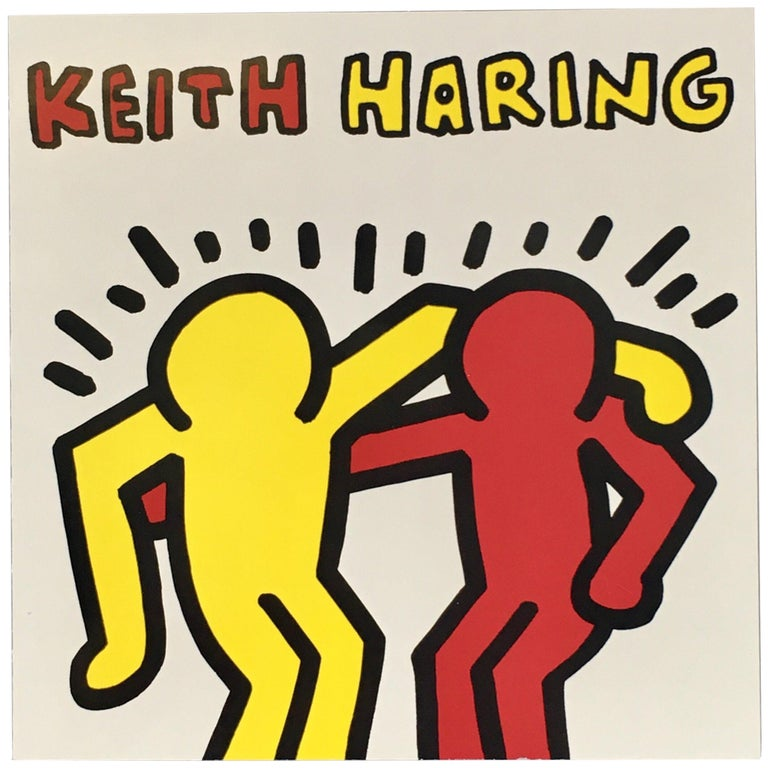 Vintage Keith Haring Gallery Announcement 1991 'Keith Haring Buddies'