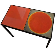 Double Baby Side Table with Roger Capron Tiles