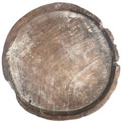 19th Century Carved Burl Wood Tray