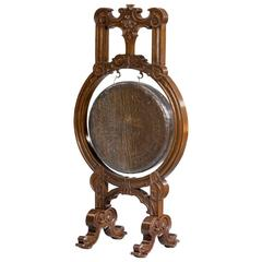 Well-Carved Oak Hall Gong