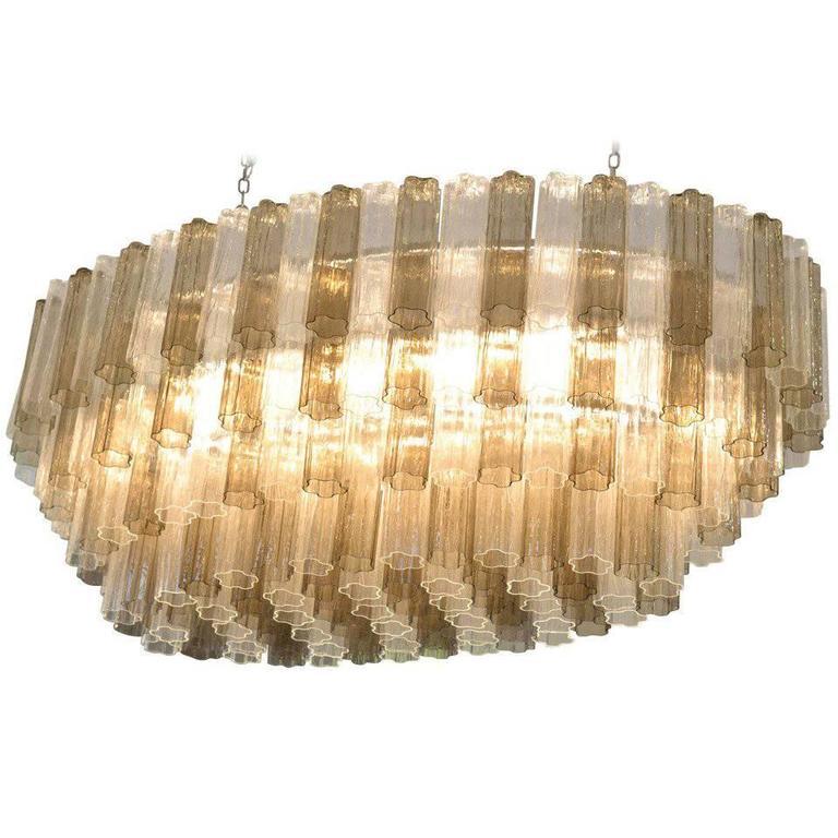 Mid-Century Modern Style Murano Glass Chandelier