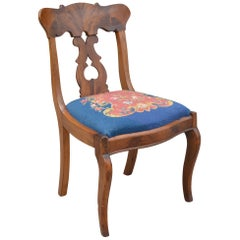 Victorian Parlor Chair with Needlepoint Seat