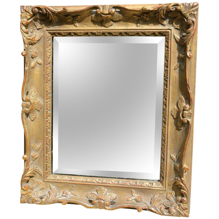 French Style Gold Framed Mirror For Sale at 1stdibs