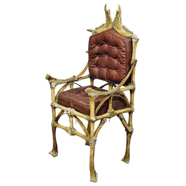 Vintage Bull Bone Chair, circa 1930