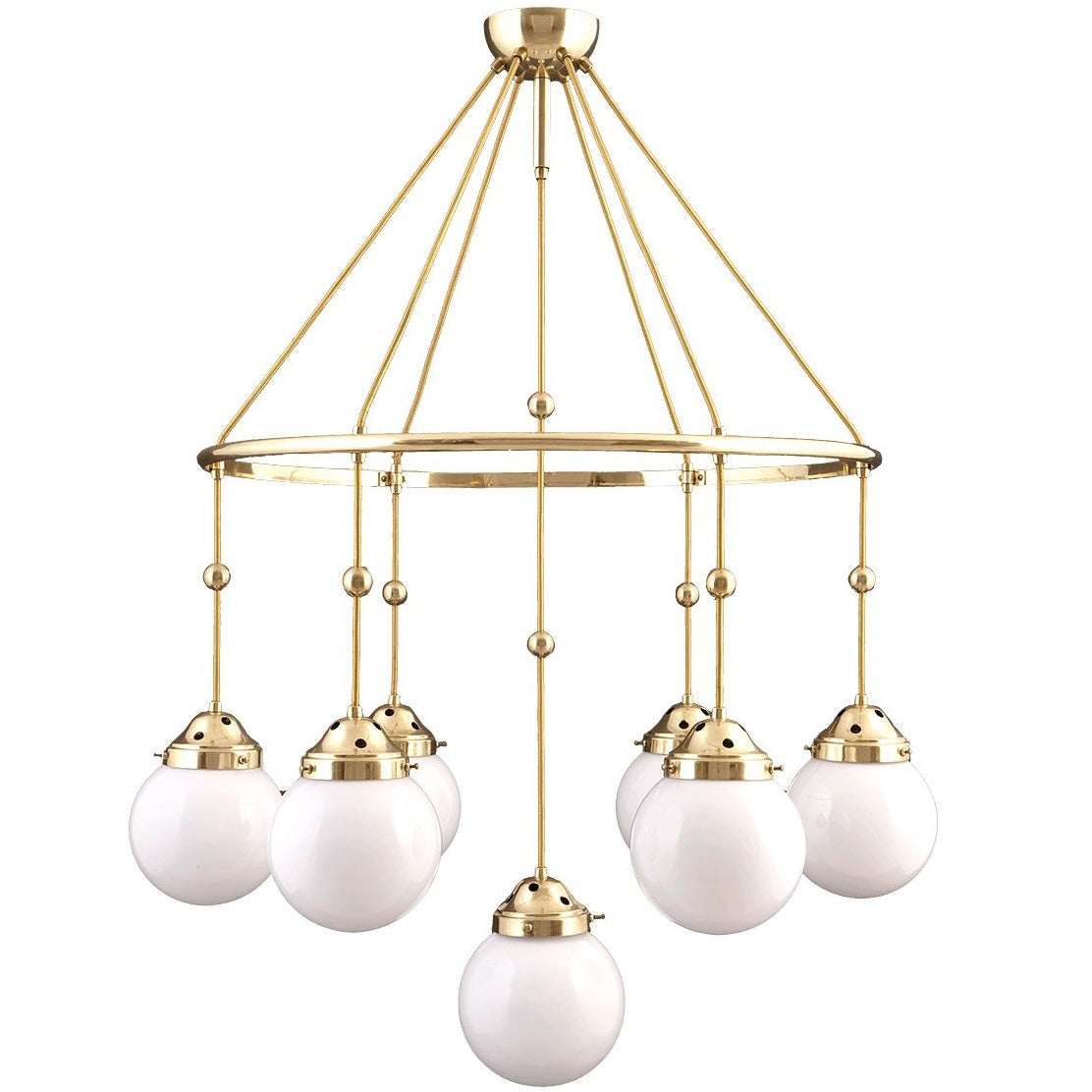 "Adolf Loos - Secessionist - ""Brioni"" Chandelier, Jugendstil, re-edition"