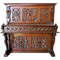 "Mechanical Bank ""19th Century Wooden Musical Piano Bank,"" circa 1895"