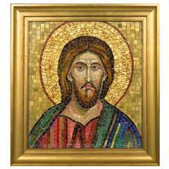 1930s Italian Mosaic of Jesus