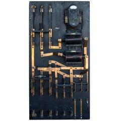 Slate and Copper Switch Board