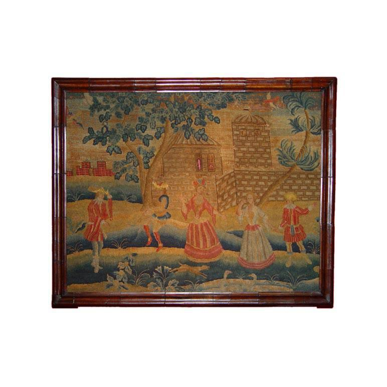 Early Georgian Needlework Picture