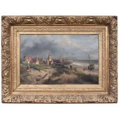 "Oil on Canvas ""Coming Home"" by Salomon Leonardus Verveer"