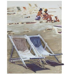 """Beach Chairs 1"" 3D Artwork by Arie Azene Signed Lower Left"