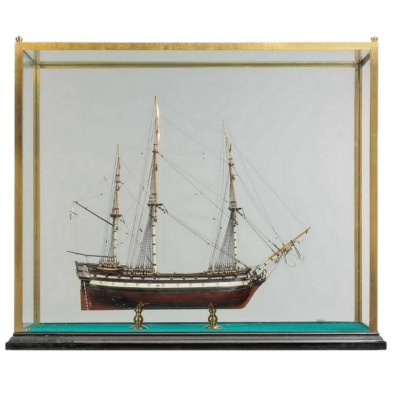 Model of the Russian 66 Gun Ship, Pobedonosec