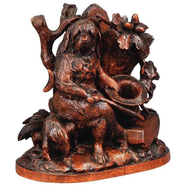 Black Forest Carved Disabled Dog, Brienz