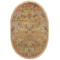 Oval Nain Masterpiece Pure Silk Rug