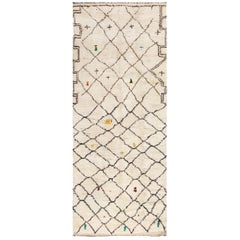 Wide Hallway Vintage Moroccan Rug