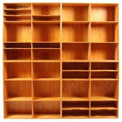 Set of Four Bookcases in Pine by Mogens Koch