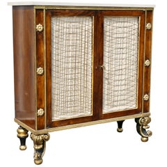 Regency Style Rosewood and Gilded Credenza