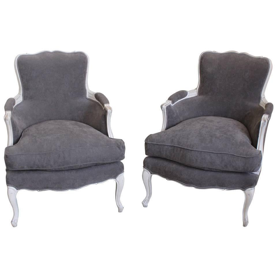 Pair of French Louis XV Style Bergères