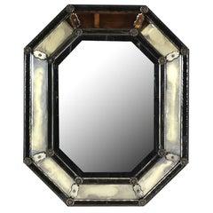 Beautiful Venetian-Style Etching Octagonal Mirror