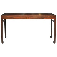 Walnut Two-Drawer Console Table
