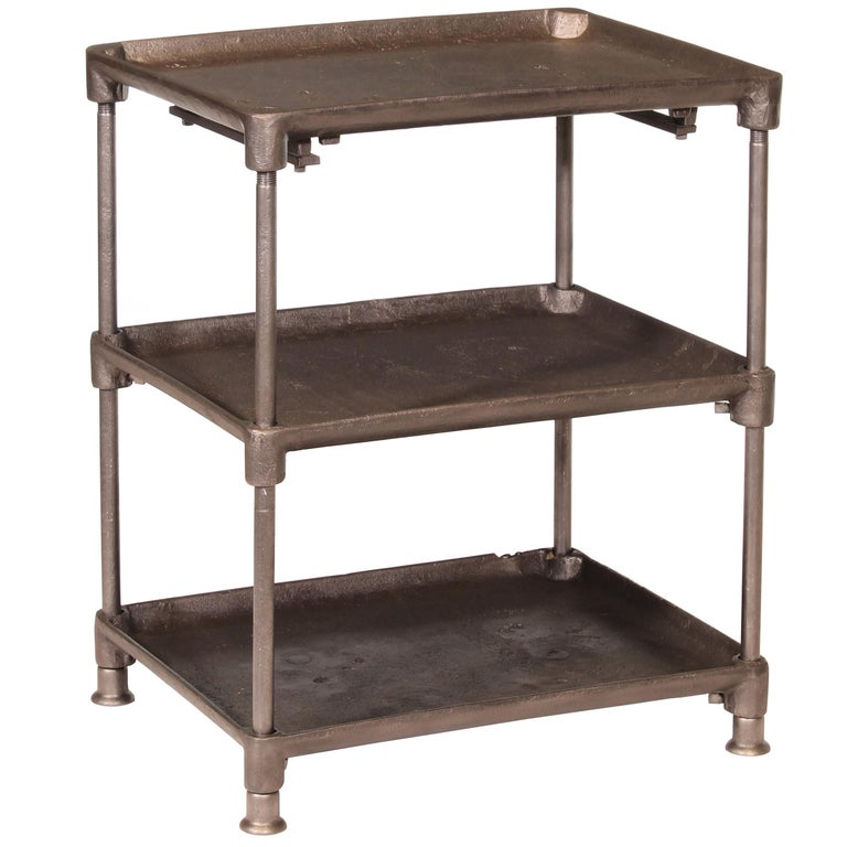 Three-Tier Cast Iron Table For Sale