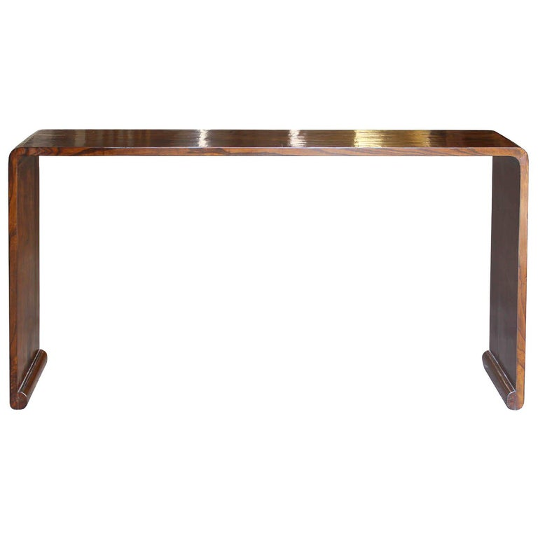Elm Waterfall Console Table