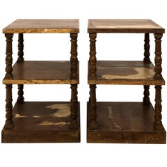 Pair of Mid-20th Century Three-Tier What Not Étagères