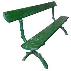 Green Painted French Park Bench