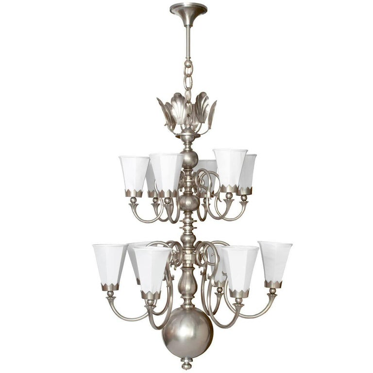 Modern Arm Chandelier: Large Scandinavian Modern Chandelier With 12 Arms In
