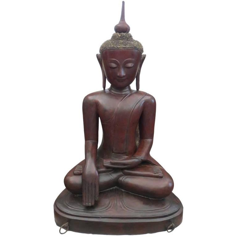 Exceptionally Large Burmese Dry Lacquer Buddha