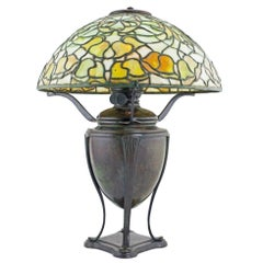 Tiffany Studios Leaded Glass and Bronze 'A Bell Flower' Table Lamp