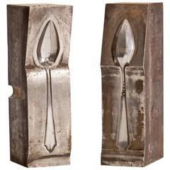 Pair of Steel Spoon Mold Sculptures
