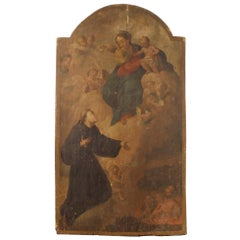 18th Century Oil on Panel Italian Religious Painting, 1780