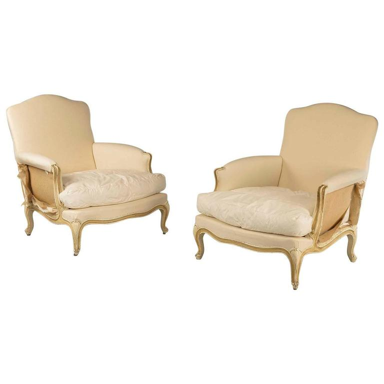 Pair Of 18th Century Style French Armchairs At 1stdibs