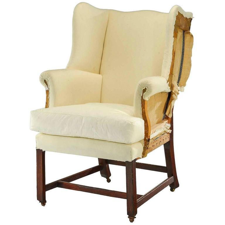 chippendale design wing chair of small proportions 1