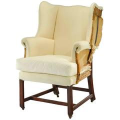 Delicieux Chippendale Design Wing Chair Of Small Proportions For Sale At 1stdibs