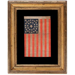 33 Stars in a Medallion Configuration, Antique American Parade Flag