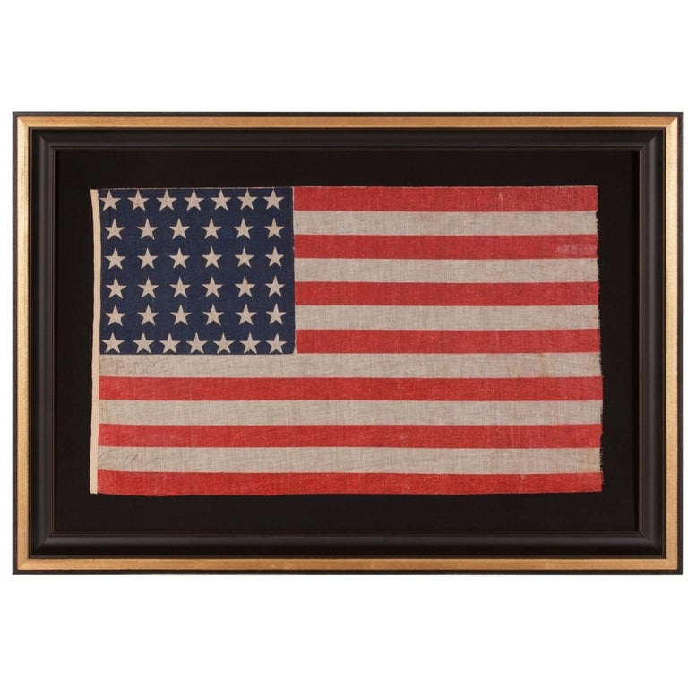 38 Star Antique American Flag, Ex-Richard Pierce Collection