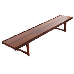 Midcentury Danish Modern Rosewood Bench or Coffee Table Torbjorn Afdal