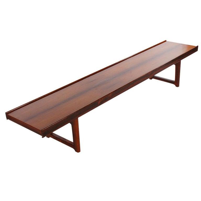 Midcentury Danish Modern Rosewood Bench or Coffee Table Torbjorn Afdal
