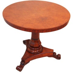 Antique 19th Century Burr Oak Centre Table