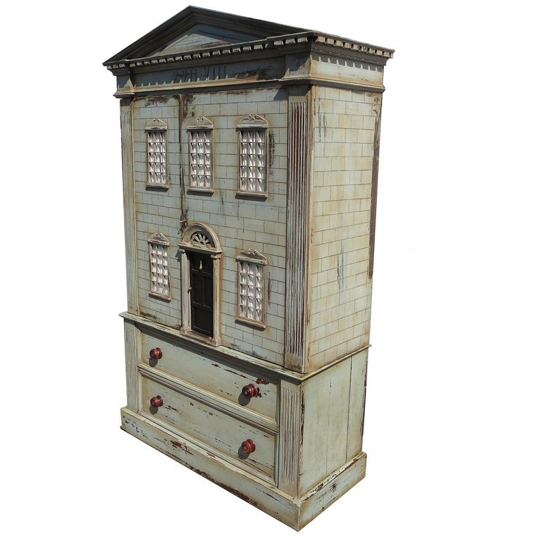 Architectural Dresser Cabinet Combo - 3 Dimensional Mansion For Sale