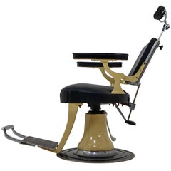 Midcentury Full, Functional Barber, Dentist Chair from the 1930s, France