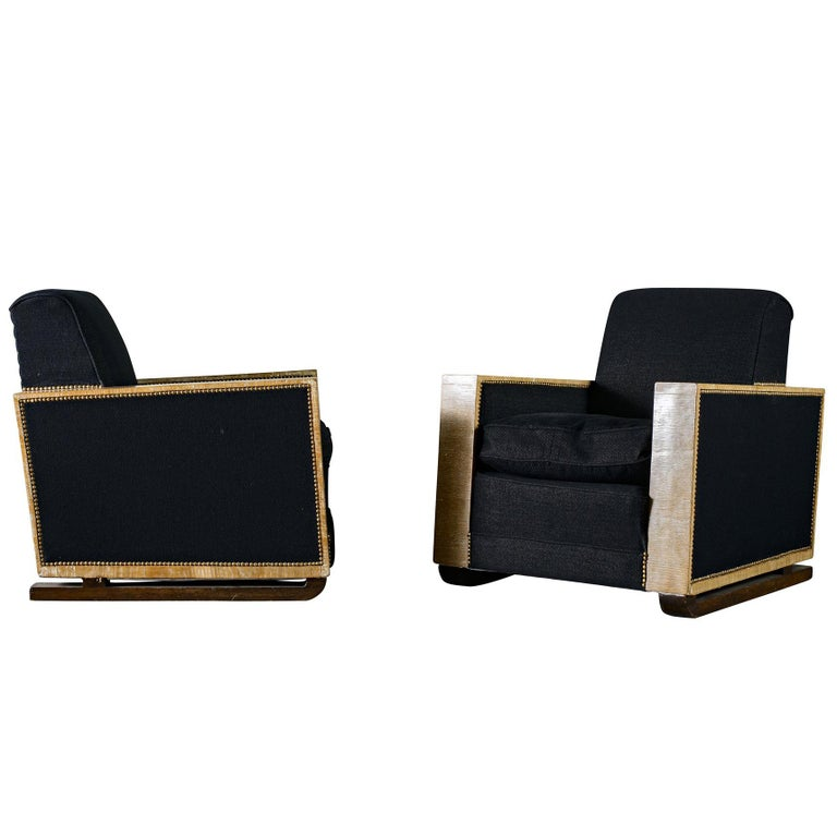 Club Chairs in the Style of Jean-Michel Frank