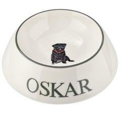 Modern Dog Bowl Porcelain Handpainted Customized Sofina Boutique Kitzbuehel