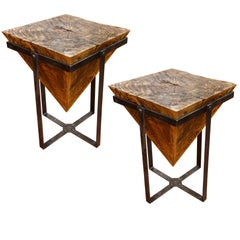Pine Pyramid Side Tables