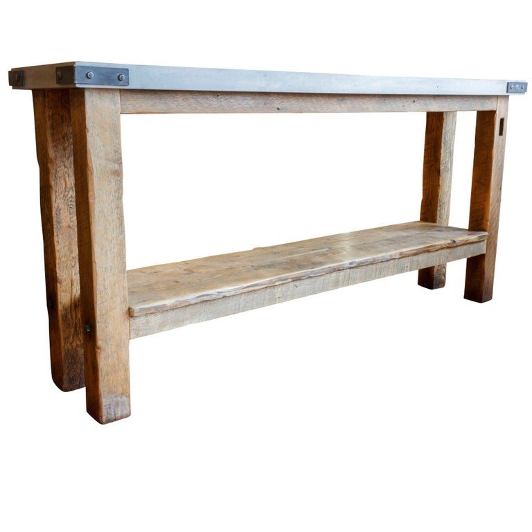 barn beam console table for sale at 1stdibs. Black Bedroom Furniture Sets. Home Design Ideas
