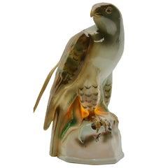 Porcelain Figurine Eagle, Table Lamp, Germany, 1930s
