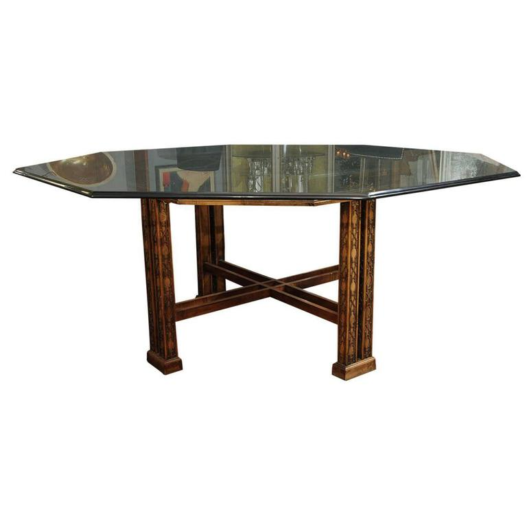 Maguire Chinoiserie Octagonal Table For Sale